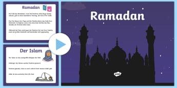 Ramadan Informationen PowerPoint - Ramadan Informationen, PowerPoint, PPT, ppt, Ramadan, Informationen, Folien, Islam, Muslime, Fastenz