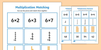 6 Times Table Multiplication Matching Puzzle - times table, multiplication, matching, puzzle, match, maths, numeracy, 6