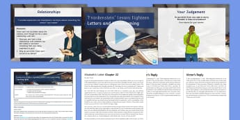 Frankenstein Lesson Pack 18: Letters and Homecoming Chapter 22 - Wedding, Shelley, Mary, Victor, marriage, Elizabeth, Victor's father, creature, murder, Ch 22, Chap