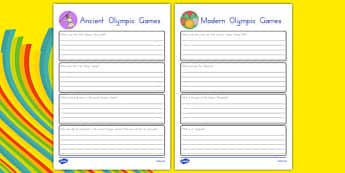 Ancient and Modern Olympic Games Research Pack - usa, america, mordern olympic games, ancient olympics games, rio 2016, research sheets, research, pack