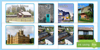 Houses and Homes Display Photos Gaeilge - Gaeilge - Sa Bhaile, Irish, Houses, Homes,Irish