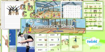 PE: Gymnastics: Shape Year 3 Display Pack