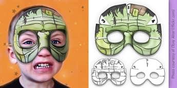 3D Halloween Frankenstein Monster Mask - 3d, halloween, frankenstein, monster, mask