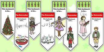 The Nutcracker Editable Bookmarks - nutcracker, bookmarks, edit