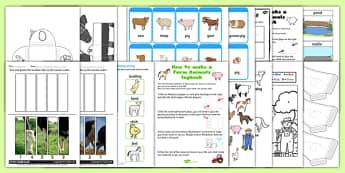 Farm Animals Lapbook Creation Pack - farm, animals, lapbook, pack