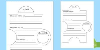 Transition Display Jigsaw Activity-German