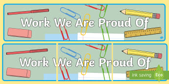 Work We Are Proud Of Display Banner - pride, WAGOLL, star work, our best work, proud wall