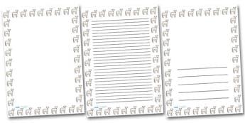 Lamb Portrait Page Borders- Portrait Page Borders - Page border, border, writing template, writing aid, writing frame, a4 border, template, templates, landscape