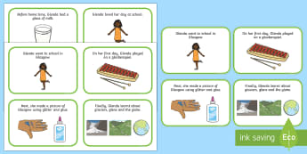 Initial gl Word Story Cards - Cluster reduction, phonology, articulation, dyspraxia, sentence level, speech sounds