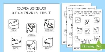 Ficha: La letra 'I' de los dinosaurios Ficha de actividad - Los dinosaurios, proyecto, transcurricular, seres vivos, estegosaurio, pterodáctilo, braquiosauro,
