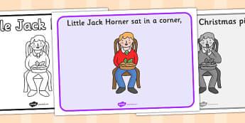 Little Jack Horner Sequencing - Little Jack Horner, sequencing, nursery rhyme, rhyme, rhyming, nursery rhyme story, nursery rhymes, Little Jack Horner resources