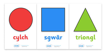 2D Shape Posters - Shape poster, Shape flashcards, Shape recognition, Welsh, cymru, Wales