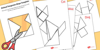 EYFS Tangram Puzzle Pack - tangram, puzzle, pack, eyfs, activity