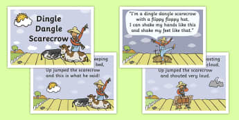 Dingle Dangle Scarecrow Nursery Rhyme - scarecrow, nursery rhyme