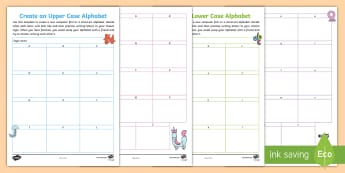 Create an Alphabet Activity Sheets - Font, graffiti, letters, design, letter formation, worksheets, creative, fun