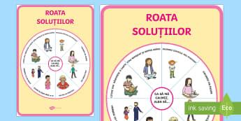 Roata soluțiilor - Planșă - dezvoltare personală, română, emoții, comportament, dezvoltarea comportamentului, gestionarea em