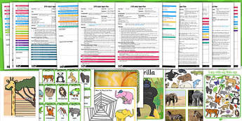 EYFS Jungle Themed Adult Input Planning and Resource Pack - jungle, input, adult led, plan