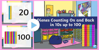 Dienes Counting On and Back in 10s up to 100  PowerPoint - Dienes Counting On and Back in 10s up to 100 PowerPoint - counting, 10, countng, couting, coutning,