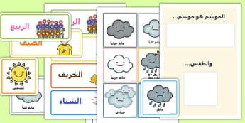 التقويم اليومي للطقس والموسم - تقويم، طقس، رزنامة، مواد تعليمية