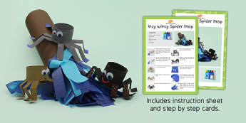 Incy Wincy Spider Prop Craft Instructions - craft, instructions