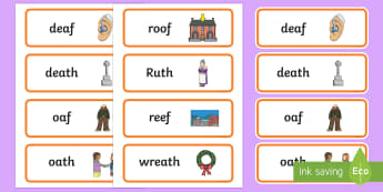 Word Final Voiceless 'th' and 'f' Minimal Pair Cards - voiceless th, minimal pairs, articulation, phonology, dyspraxia, fricatives, speech sounds