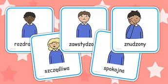 My Emotions Faces Discussion Cards Polish - polish, emotions, faces