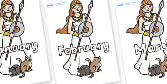 Months of the Year on Viking - Months of the Year, Months poster, Months display, display, poster, frieze, Months, month, January, February, March, April, May, June, July, August, September