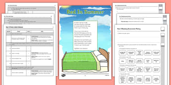 Year 3 Reading Assessment: Poetry Term 1 - year 3, reading, assessment, poetry, english