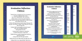 Graduation Reflection Poem - graduation, poem, reflection, sixth class, end of year,Irish