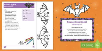 EYFS Balancing Bat Science Experiment and Prompt Card Pack