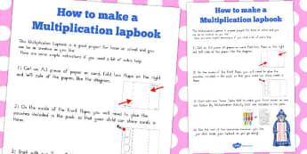Multiplication Lapbook Instructions - australia, lapbook, maths