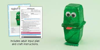 Yoghurt Pot Frog EYFS Adult Input Plan and Resource Pack - adult led, plan
