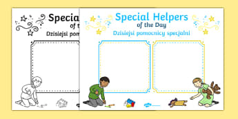 Special Helpers of the Day Poster English/Polish