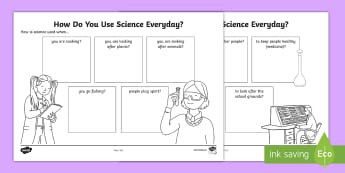 Science Everyday Uses Activity Sheets - ACSHE022, ACSHE035, science helps, science daily, Science as a Human Endeavour, Use and influence of
