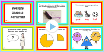 Key Stage 1 Morning Starter Activities PowerPoint - KS2, starters