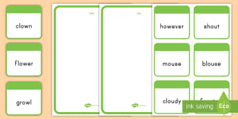 Word Sort ou and ow Activity - phonics, ou, ow, sounds, activity