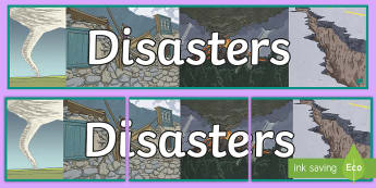 Disasters Banner - New Zealand Natural Disasters, earthquake, tsunami, volcano, monsoon, hurricane, flood, tornado