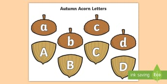 Autumn Acorn Letters Matching Cards - Autumn Acorn Number Bonds to 20 - number bonds, autumn, autumn number bonds, acorn, acorn number bon
