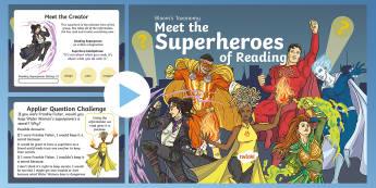 Bloom Superheroes - Water Woman PowerPoint - Blooms Taxonomy, Understanding, Evaluating, Applying, Creating, Remembering, Comprehension, Generic,