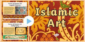 Islamic Art Patterns PowerPoint - islam, geometric patterns, vegetal patterns, calligraphy,