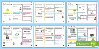 Year 3 Spring Term 2 SPaG Activity Mats - SPaG Activity Mats KS2, SPAG, GPS, Mr WHoops, Y3, spring 2, term, revision, carousel, appendix 2, in