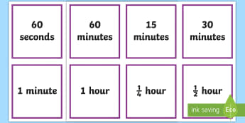 Units of Time Cards  - time, measures, group counting, Choral counting, counting choir, units,Irish