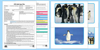 EYFS Printing Penguins Adult Input Plan and Resource Pack - EYFS, Early years planning, adult led, Lost and Found, Oliver Jeffers, polar regions, Penguin Small,