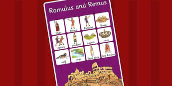 Romulus and Remus Vocabulary Mat - vocab mat, romans, rome, vocab
