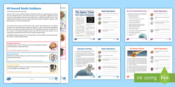 UKS2 60-Second Reads: Space Activity Pack - Ninety Words Per Minute, Speed Read, Sixty Second Reads, Assessment, Reading, Timed Reading