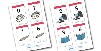 Number Bonds to 7 Matching Cards (Everyday Items) - Number Bonds, Matching Cards, Everyday Item Cards, Number Bonds to 7