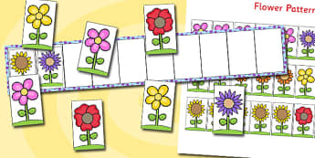 Flower Pattern Board - flower, pattern, board, order, sequence