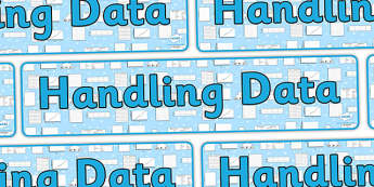Handling Data Display Banner - handling data, handling data banner, handling data display, ks2 handling data, data, data display, ks2 maths, ks2 numeracy