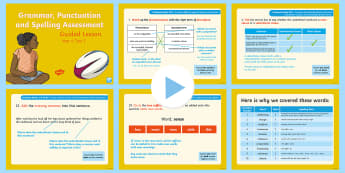 Year 6 Grammar, Punctuation and Spelling Test 2 Guided Lesson PowerPoint - Year 6 SPaG Guided Lesson PowerPoints and Packs, Year 6, SATs, Y6, revision, SPaG, GPs, grammar, pun