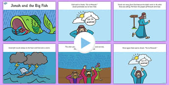 Jonah and the Big Fish Story PowerPoint - usa, jonah and the big fish, jonah and the big fish powerpoint, jonah and the big fish story, bible stories, jonah